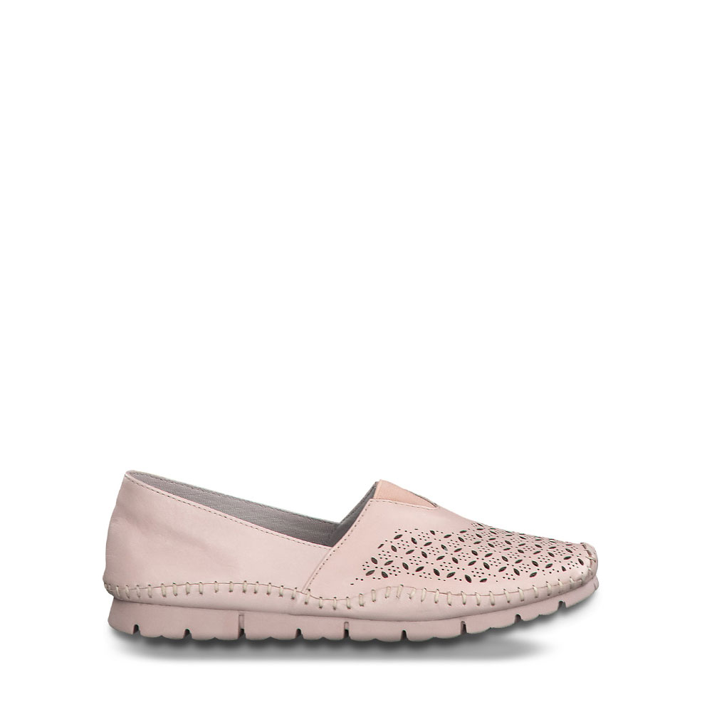 Γυναικεία Loafer Jana 100% Comfort 24619 Rose Δέρμα