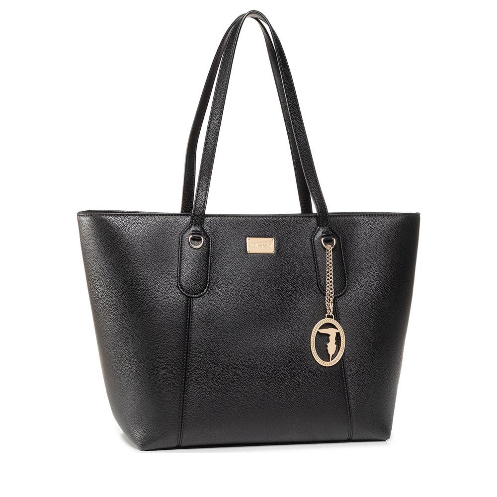 Γυναικεία Shopper Back Trussardi Monaco Black Δέρμα