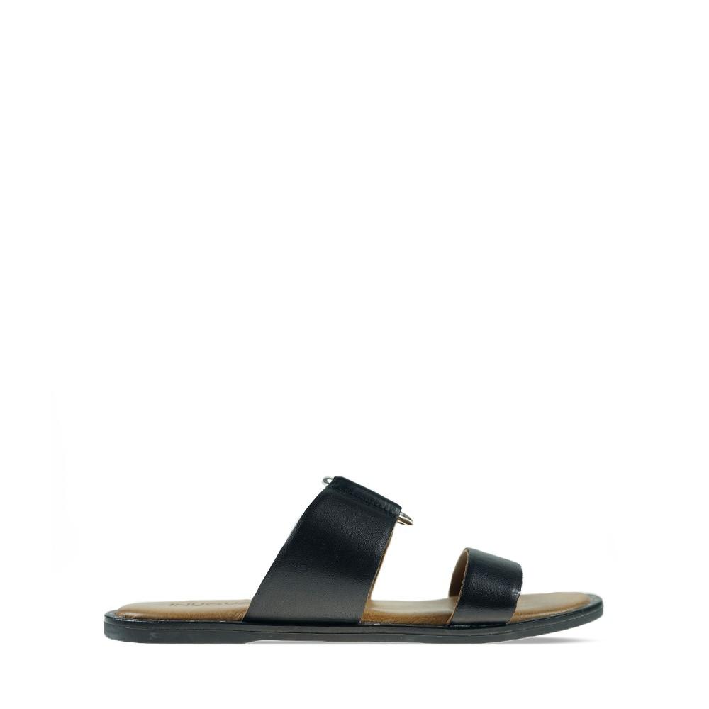 Γυναικεία Flats Inuovo 102006 Black Δέρμα