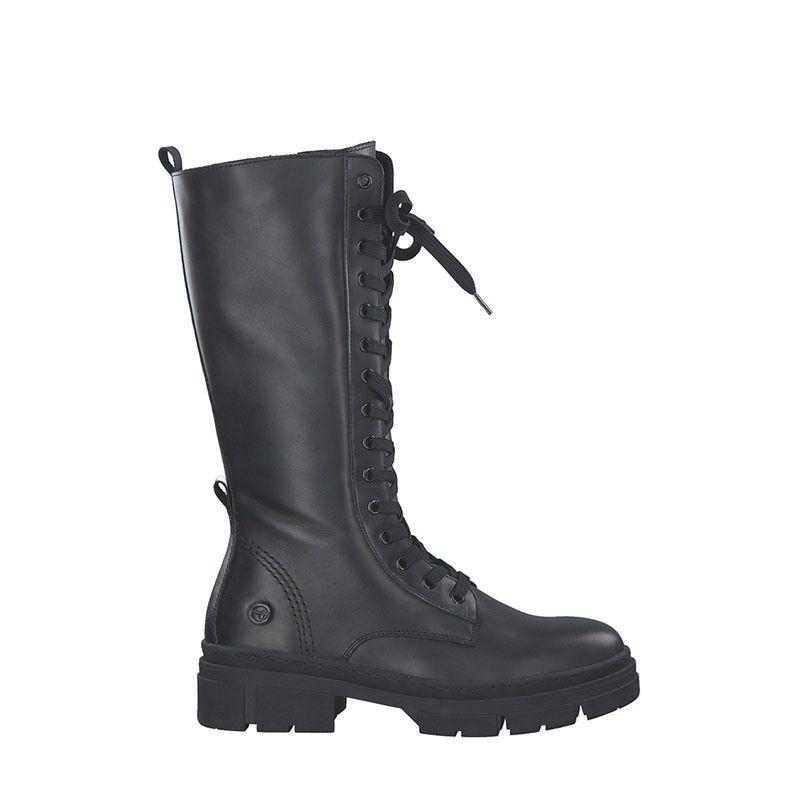 Γυναικείες Μπότες Tamaris 25245 Black Leather