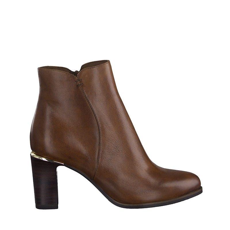 Γυναικεία Μποτάκια Tamaris 25363 Cognac Leather