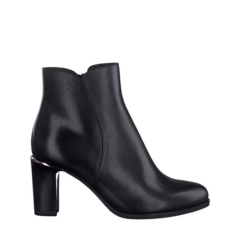 Γυναικεία Μποτάκια Tamaris 25363 Black Leather