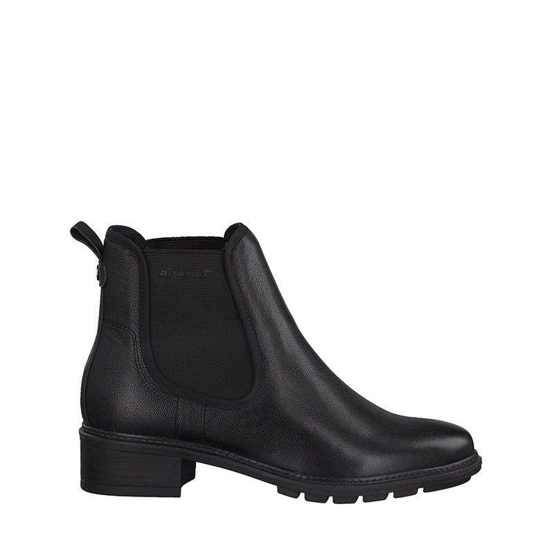 Γυναικεία Μποτάκια Tamaris 25440 Black Leather