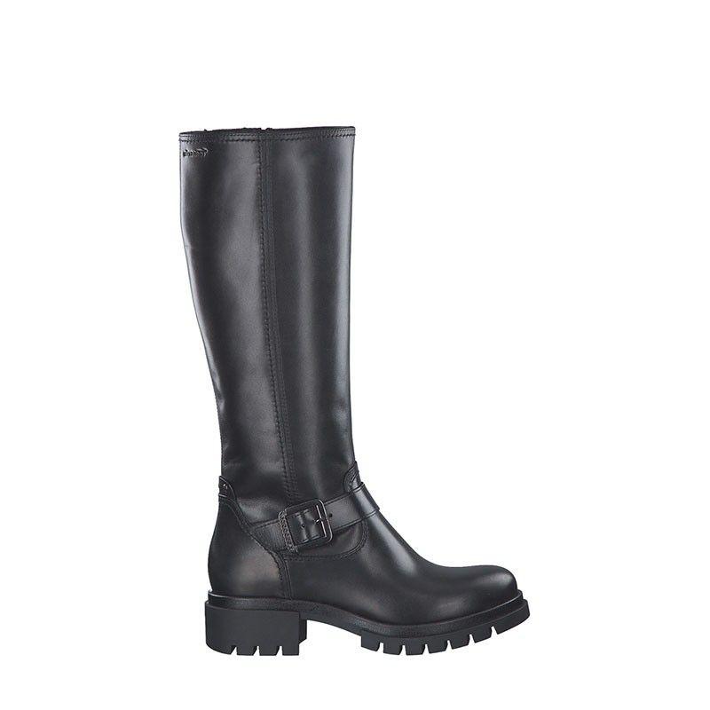 Γυναικείες Μπότες Tamaris 25621 Black Leather