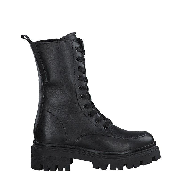 Γυναικεία Μποτάκια Tamaris 25814 Black Leather