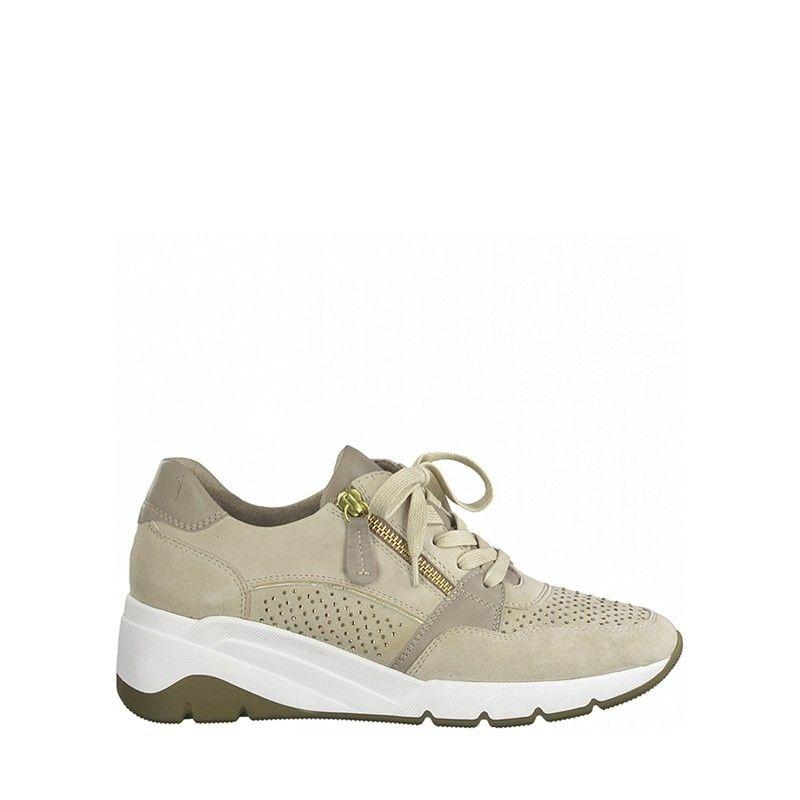 Γυναικεία Sneakers jana 100% Comfort 23702 Beige