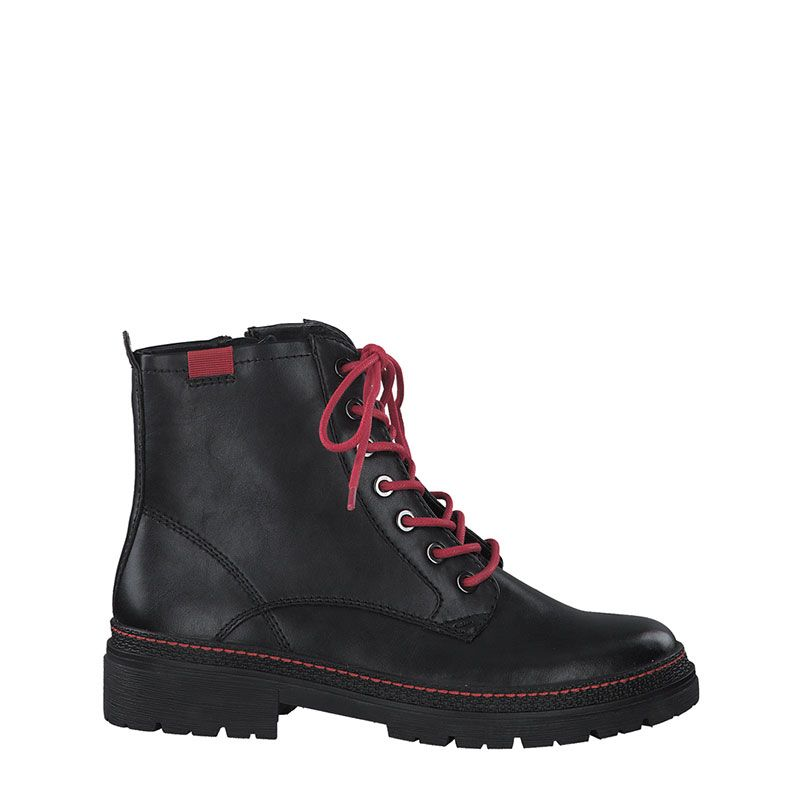Γυναικείο Μποτάκι Jana 100% Comfort 25222 Black Red
