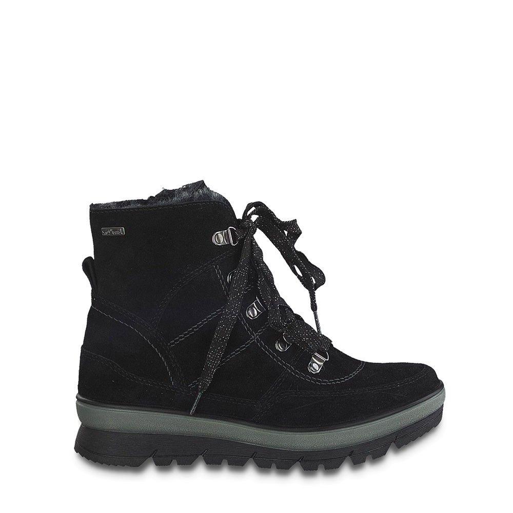 Γυναικεία Μποτάκια Jana 100% Comfort 26230 Black Leather
