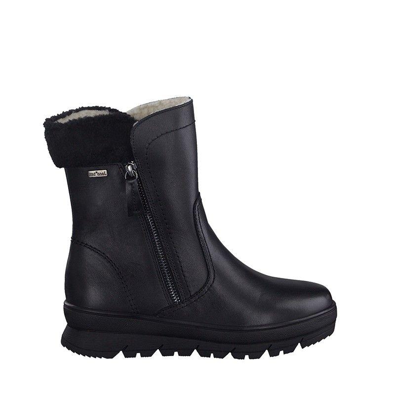 Γυναικείο Μποτάκι Jana 100% Comfort  Leather 26440 Black Nappa