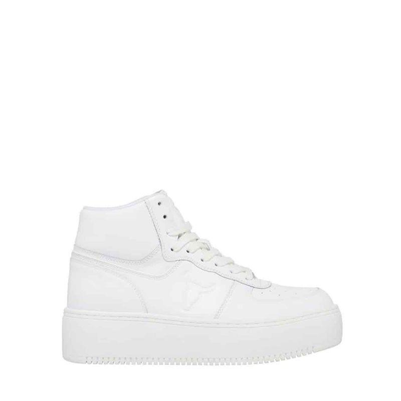 Γυναικεία Δερμάτινα Sneakers Τύπου Μποτάκια Δίπατα Windsor Smith Thrive White