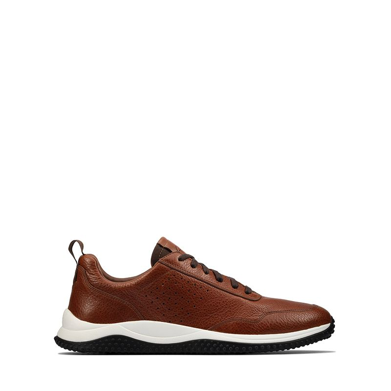 Ανδρικά Sneakers Clarks Puxton Lace Tan Leather