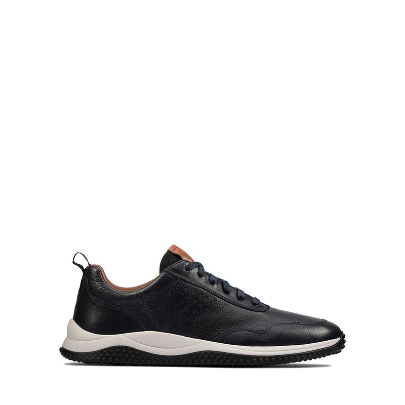Ανδρικά Sneakers Clarks Puxton Lace Navy Leather