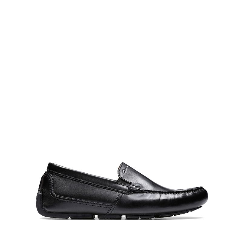 Ανδρικά Μοκασίνια  Clarks Markman Plain Black Leather
