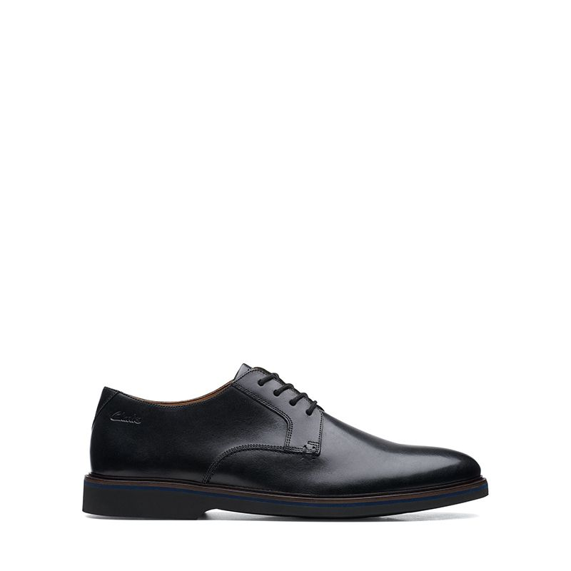 Ανδρικά Σκαρπίνια Clarks Malwood Plain Black Leather