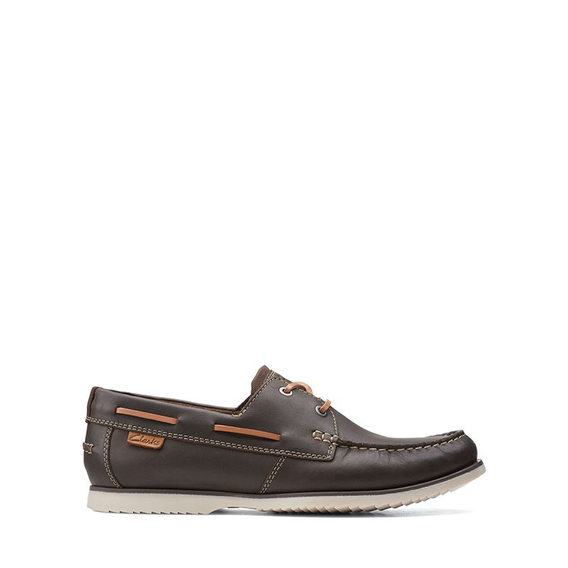 Ανδρικά Boat Shoes Clarks Noonan Lace Dark Brown