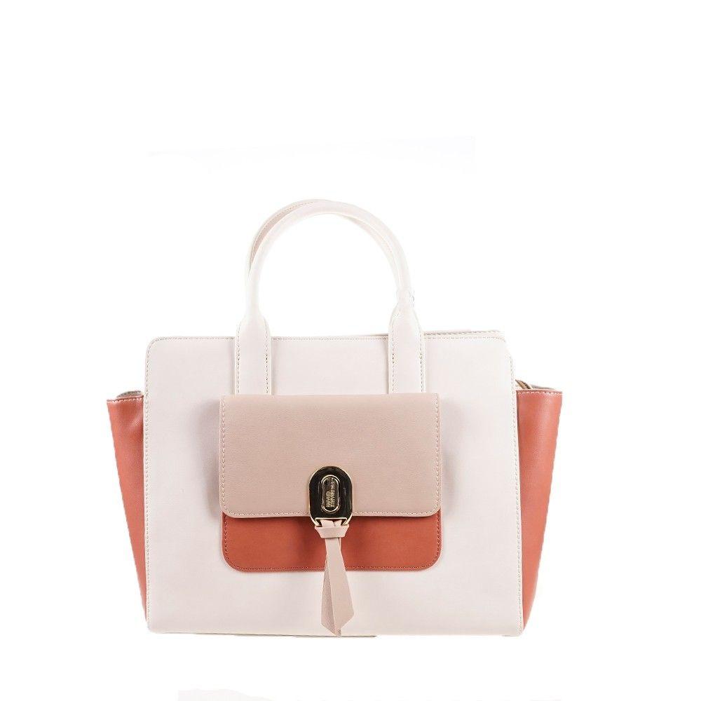 Γυναικεία Τσάντα Shopper Trussardi Mya Vanilla/Taupe