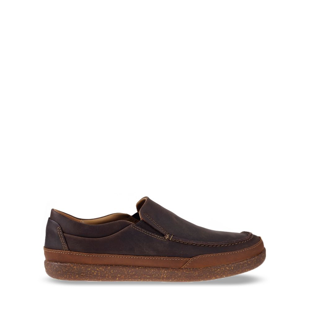 Ανδρικά Μοκασίνια Clarks Un Lisbon Twin Brown Leather