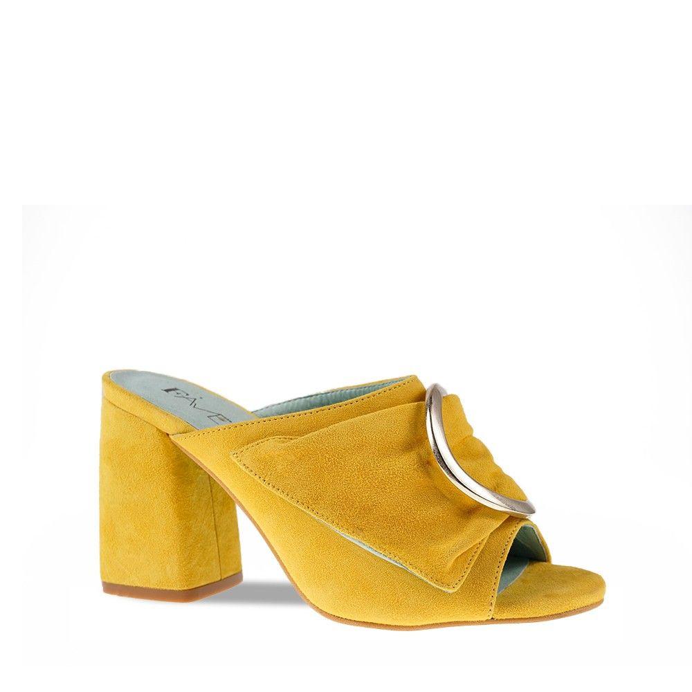 Γυναικεία Πέδιλα Favela 19118-555B Yellow