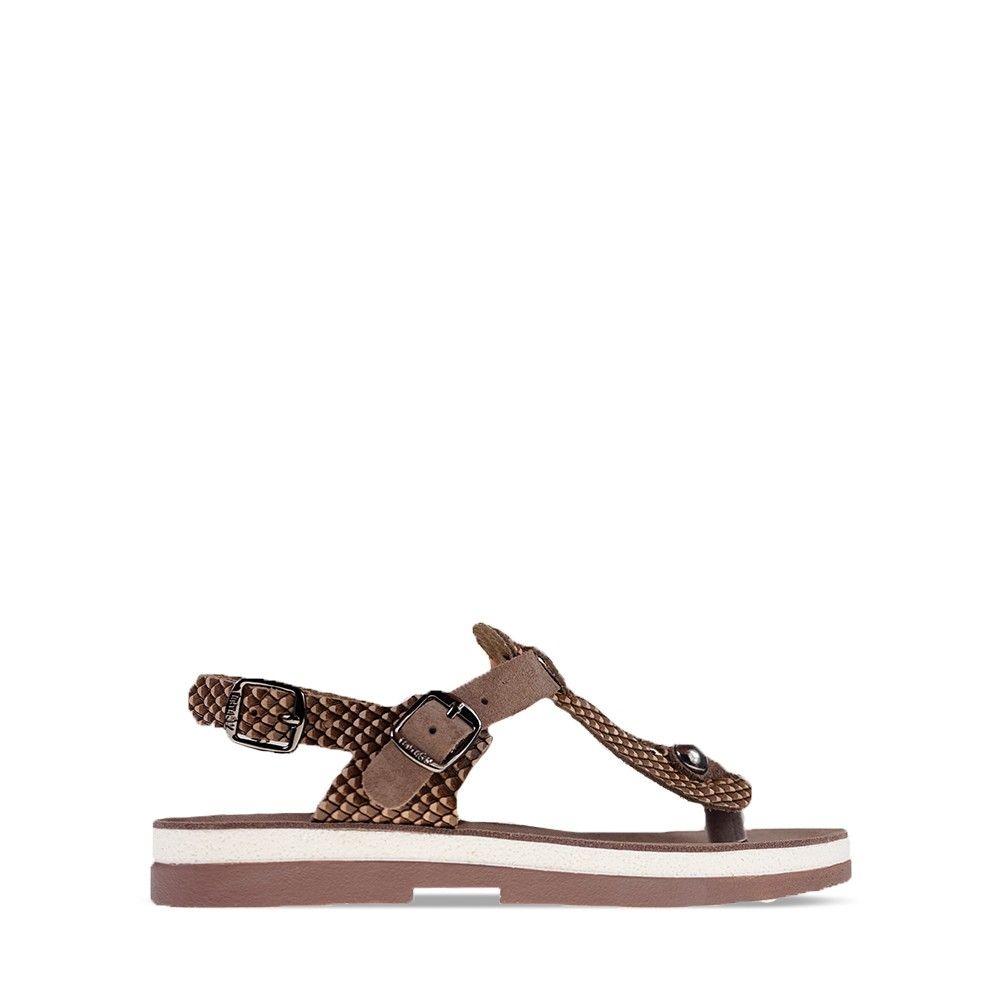 Γυναικεία Σανδάλια Fantasy Sandals Marlena Espresso Cobra