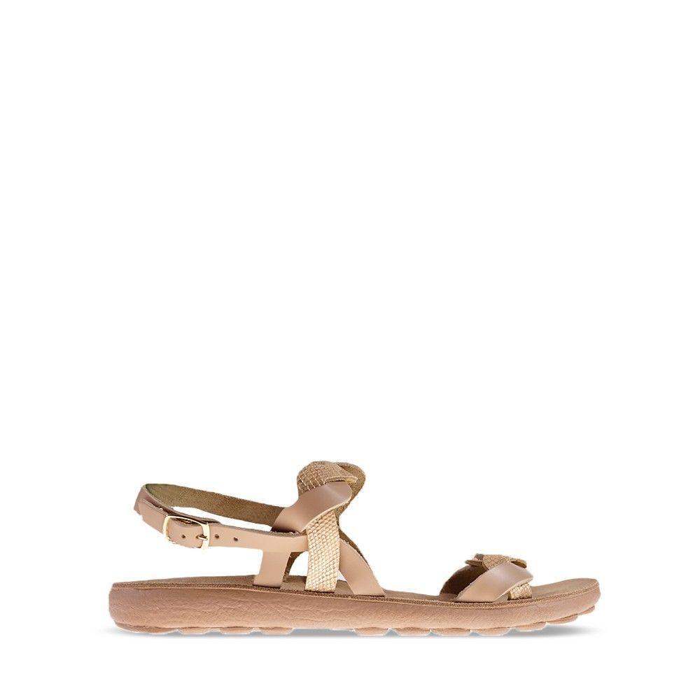 Γυναικεία Σανδάλια Fantasy Sandals Coni Beige Snake