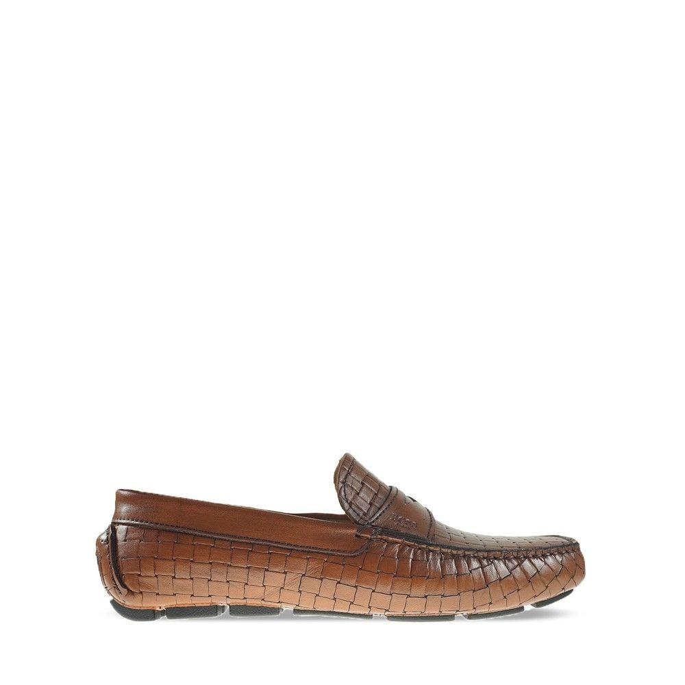 Ανδρικά Μοκασίνια Boss Q5784 Tan woven