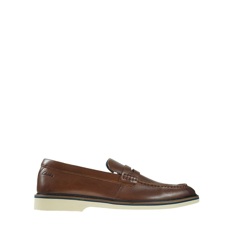 Ανδρικά Μοκασίνια Clarks Malwood Step Dark Tan Leather