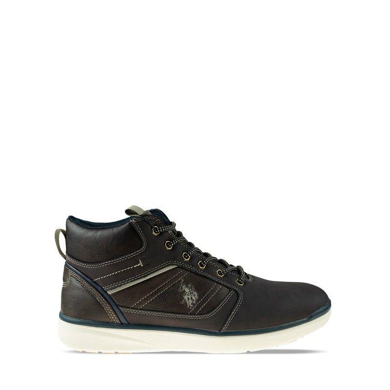 Ανδρικό Μποτάκι Us polo Ygor002 Dark Brown Eco Leather