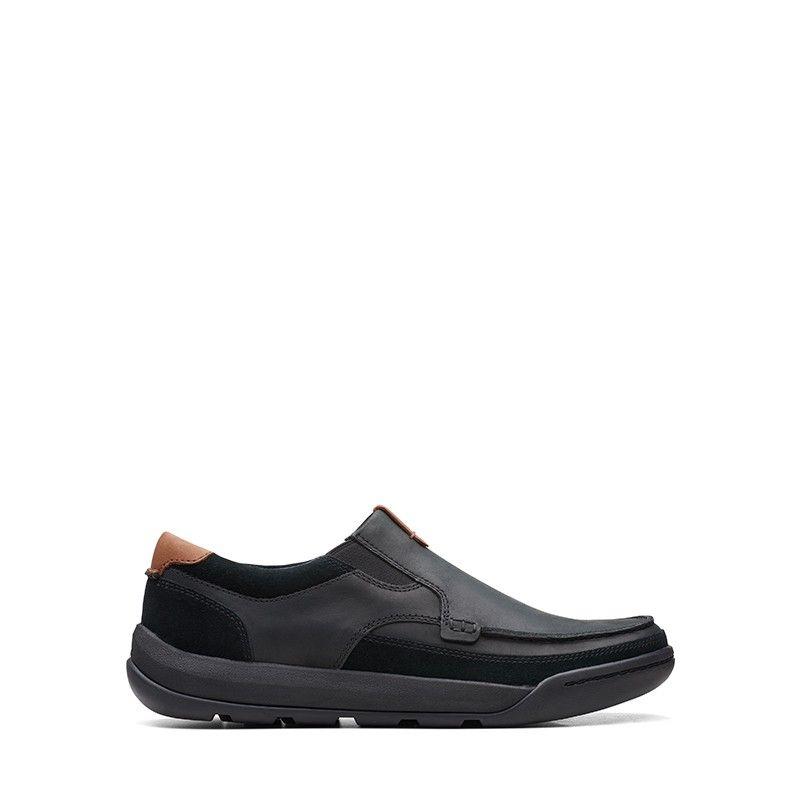 Ανδρικά Μοκασίνια Clarks Ashcombe Slip Black Leather