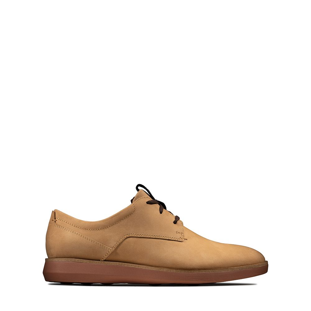 Ανδρικά Casual Παπούτσια Clarks Banwell Lace Light Tan Nubuck