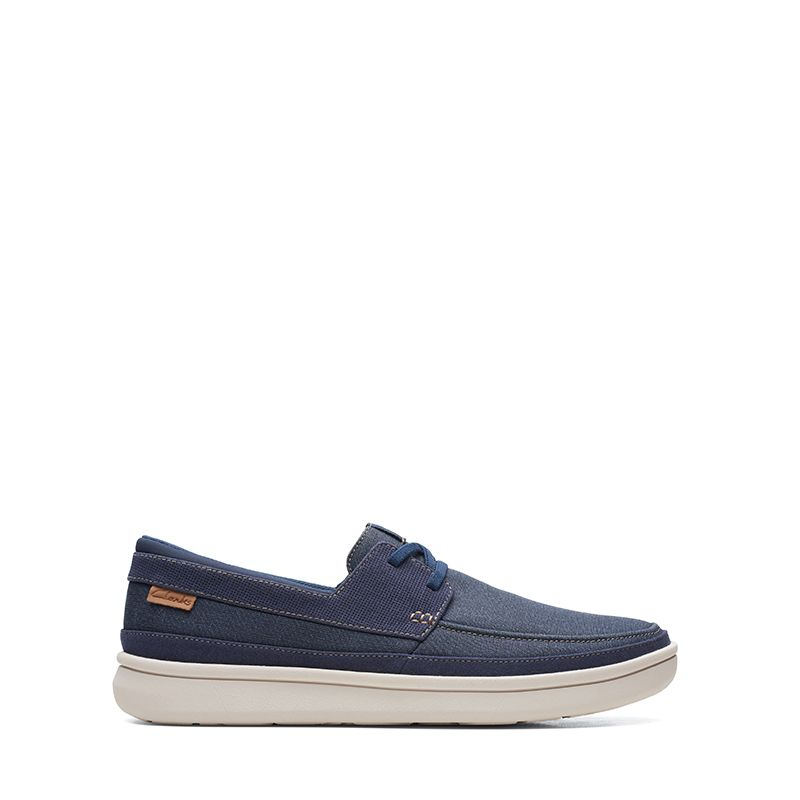 Ανδρικά Casual Clarks Cantal Lace Navy Canvas
