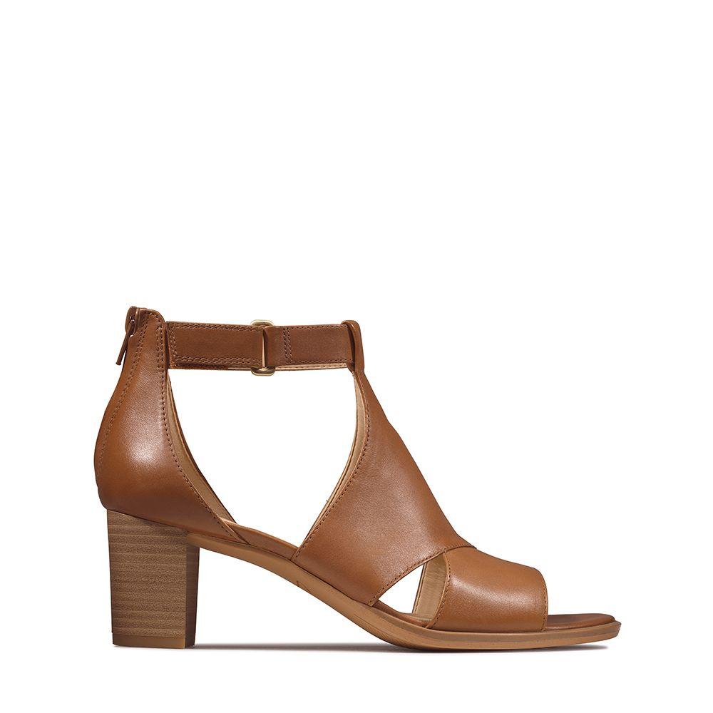 Γυναικεία Πέδιλα CLarks Kaylyn60 Glad Tan Leather