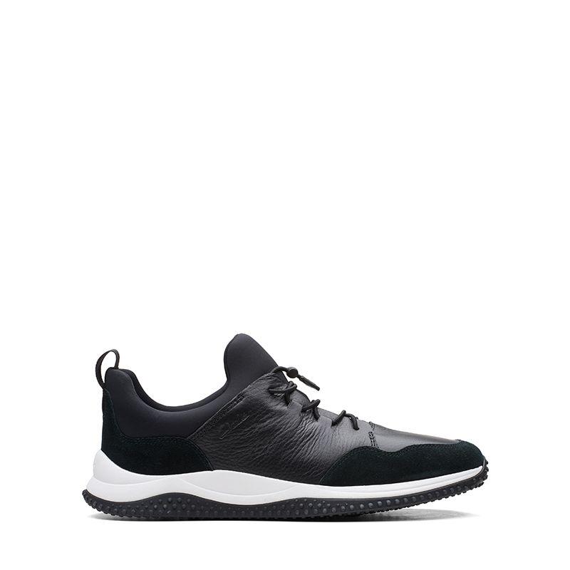 Ανδρικά Sneaker Clarks Puxton Ease Black Leather