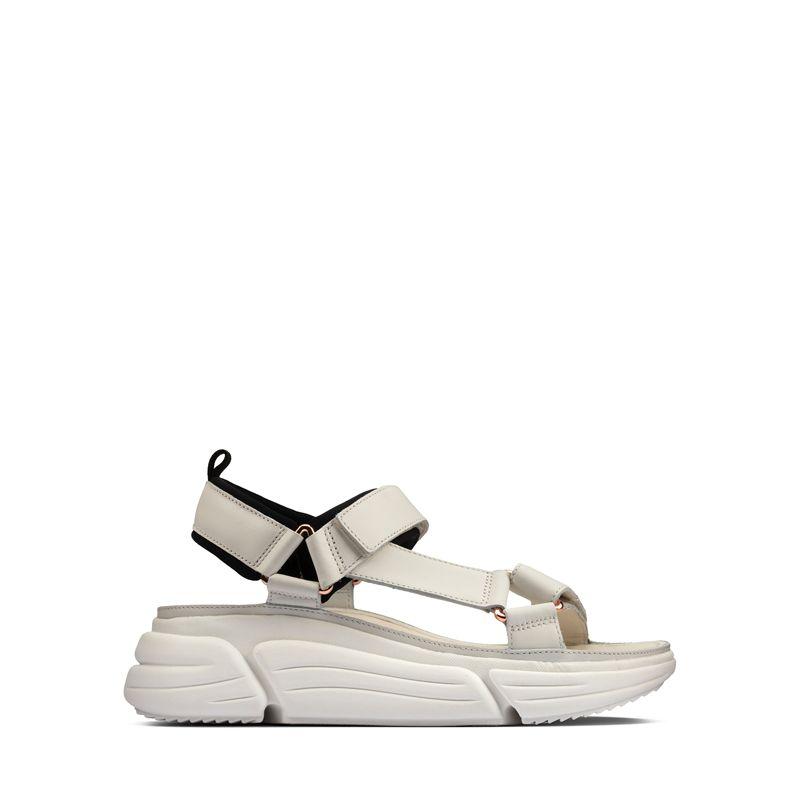 Γυναικεία Σανδάλια Clarks Tricomet Go White Leather
