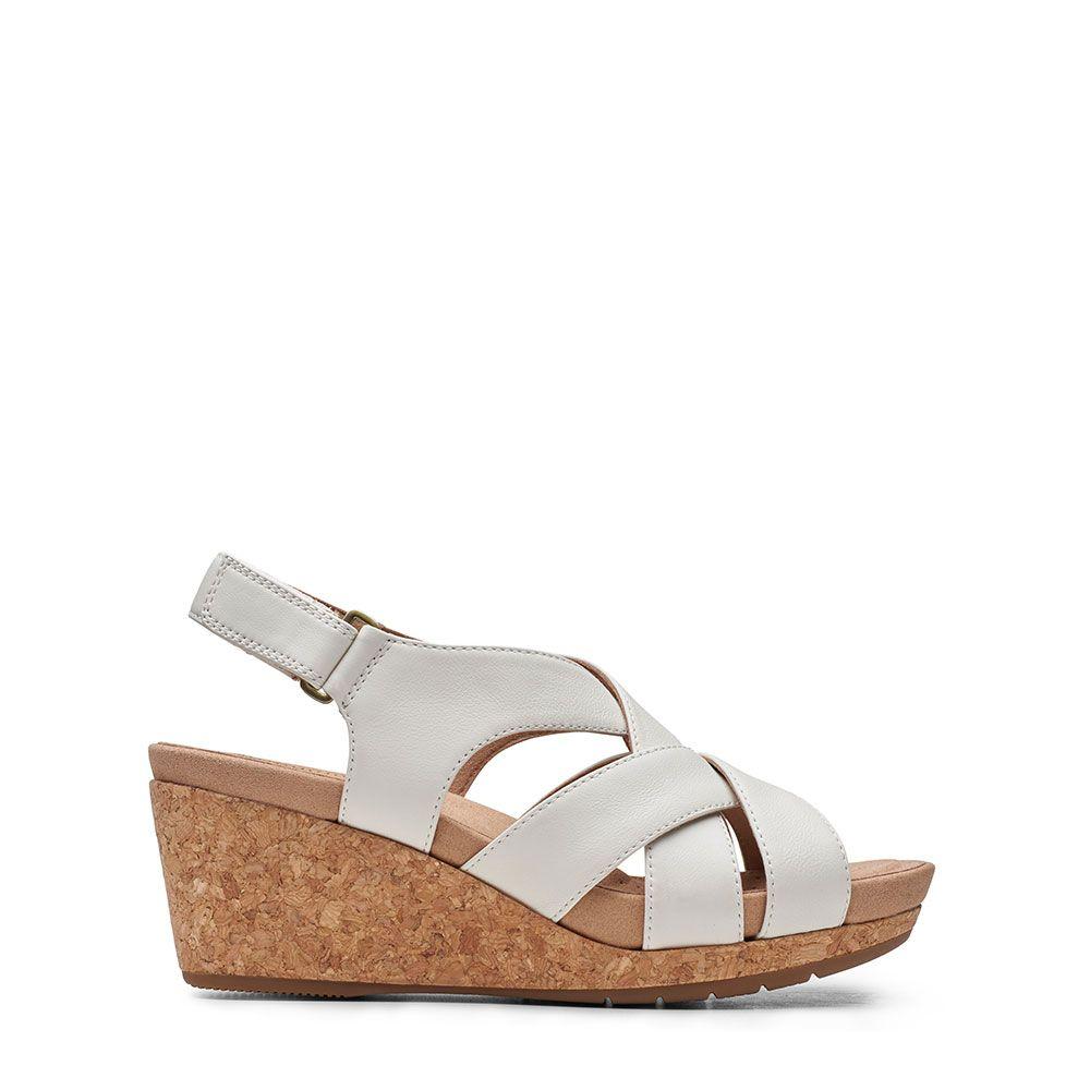 Γυναικεία Πέδιλα Clarks Un Capri Step White leather