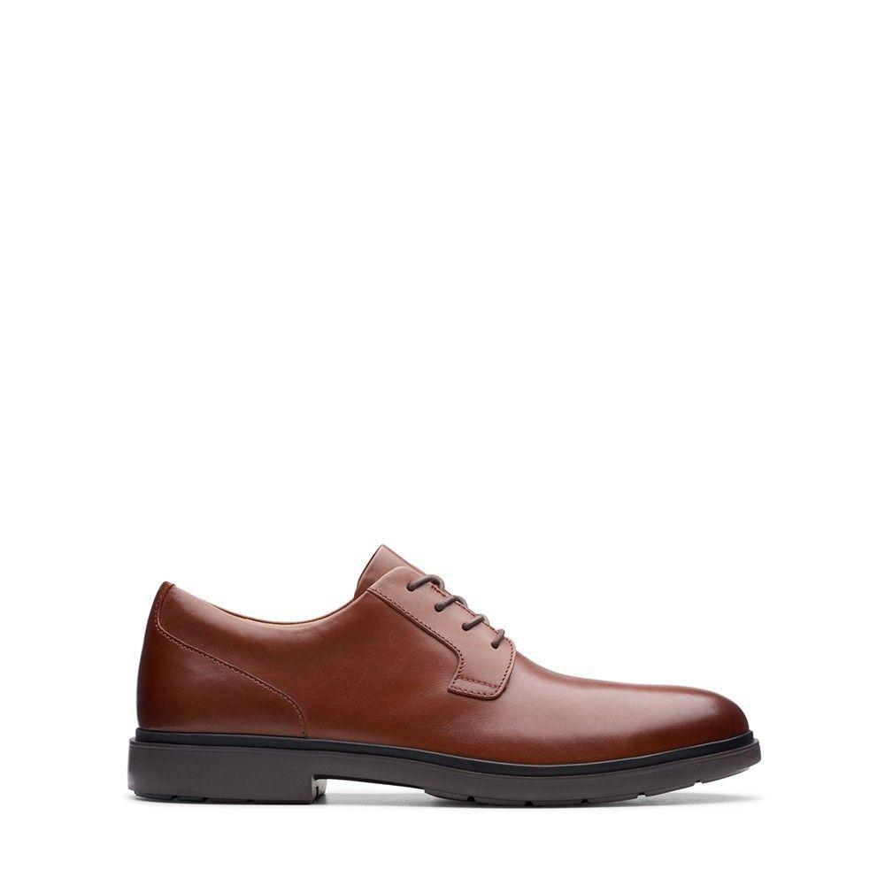 Ανδρικά Casual Παπούτσια Clarks Un Tailor Tie Tan Leather